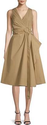 Derek Lam 10 Crosby Women's Pleated Cotton Wrap Dress