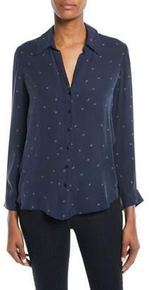 L'Agence Nina Star-Print Silk Blouse