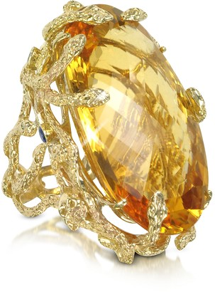 MeDusa Bernard Delettrez Gold and Citrine Ring
