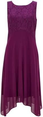 Wallis PETITE Berry Lace Top Dress