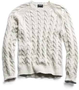 Todd Snyder Cotton Cable Crewneck Sweater in Cream