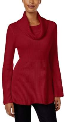 Style&Co. Style & Co. Womens Petites Turtleneck Ribbed Knit Pullover Sweater PM