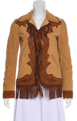 Philosophy di Alberta Ferretti Leather Long Sleeve Jacket