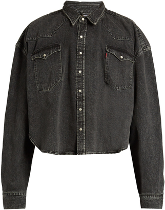VETEMENTS X Levi's oversized denim shirt $2,110 thestylecure.com