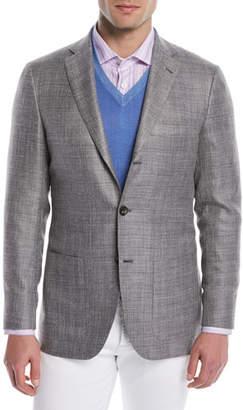 Kiton Men's Textured Weave Three-Button Blazer