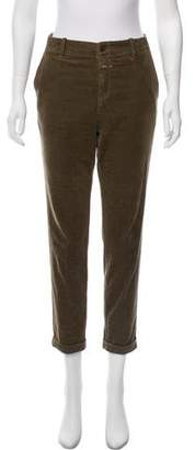 Closed High-Rise Straight-Leg Pants