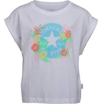 b99f0aa0e Converse Junior Girls C.T.P Hawaiian Print T-Shirt White