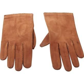 Christian Dior Vintage Camel Leather Gloves