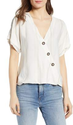 Socialite Button Wrap Top