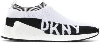DKNY knitted slip-on sneakers