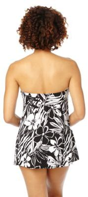 Miraclesuit White Shadow Bandeau Seascape Swimdress