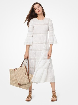 MICHAEL Michael Kors Corded Cotton and Sequined Lace Dress