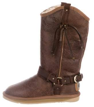 Australia Luxe Collective Leather Round-Toe Mid-Calf Boots