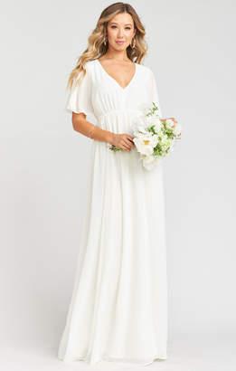 Show Me Your Mumu Emily Empire Maxi Dress ~ Wedding Cake Chiffon