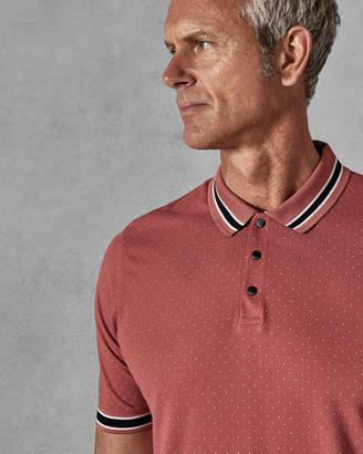 Ted Baker MUSEOTT Mini spot print polo shirt