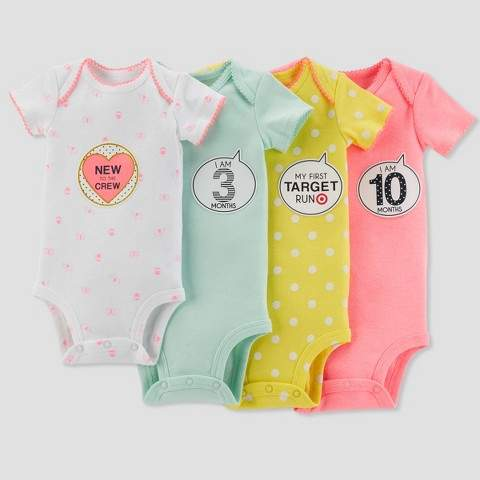 Just One You made by carter Baby Girls' Bodysuit and Sticker Pack Set - Just One You® made by carter's Mint 0-12M