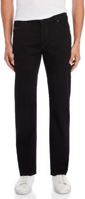 Diesel Black Waykee Regular-Straight Jeans