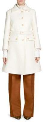 Chloé Iconic Button-Front Wool Coat