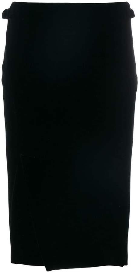 Tom Ford velvet wrap skirt