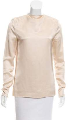 Celine Satin Long Sleeve Top