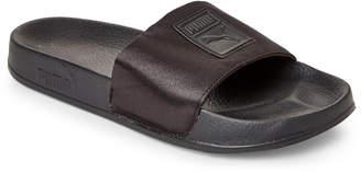 Puma Black Leadcat Satin Slide Sandals