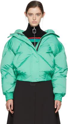 Dunlop Ienki Ienki Green Down Short Hooded Jacket