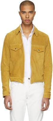 Empathy Los Angeles Yellow Suede 'Feminine Grace' Jacket $995 thestylecure.com