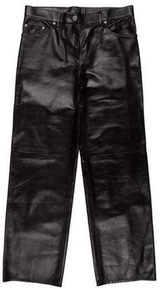 Calvin Klein Leather Mid-Rise Pants w/ Tags