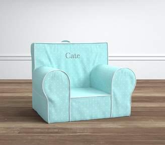 Pottery Barn Kids Aqua Pin Dot Anywhere Chair® Slipcover Only