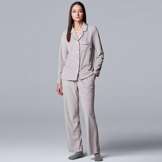 Vera Wang Women's Simply Vera 3-Piece Velour Pajamas & Socks Set