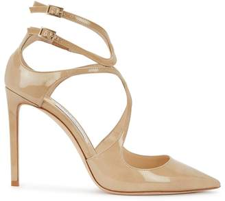 e8ad76b8d089 Jimmy Choo Lancer 100 Almond Patent Leather Pumps