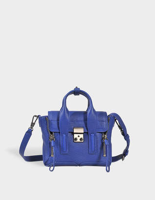 3.1 Phillip Lim Pashli Mini Satchel Bag in Cobalt Shark Embossed Cow Leather