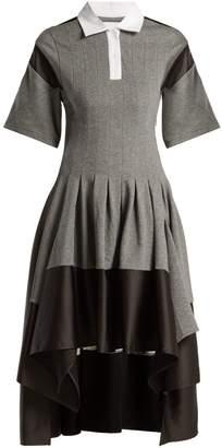 DAY Birger et Mikkelsen KOCHÉ Short-sleeved pleated asymmetric-hem dress