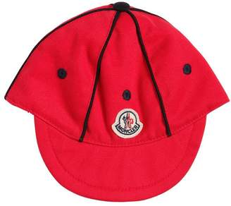 Moncler Cotton Gabardine Hat With Logo