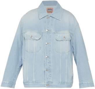 Acne Studios Oversized Denim Jacket - Mens - Light Blue
