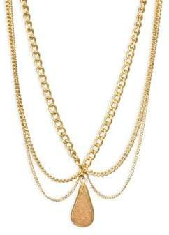 Chan Luu Scalloped Agate Pendent Necklace