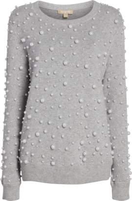 Michael Kors Pearl Embroidered Sweatshirt