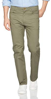 Savane Men's Flat Front Active Flex 5-Pocket Casual Pant