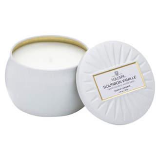 Voluspa Decorative Tin Candle - Bourbon Vanille