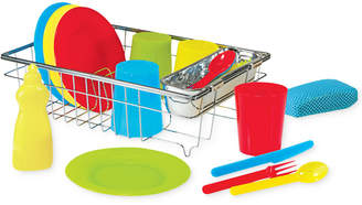 Melissa & Doug Kids' Let's Play House Wash & Dry Toy Dish Set