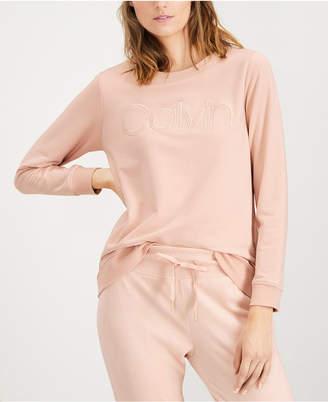 Calvin Klein Textured Logo Sweatshirt