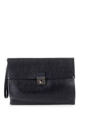 Valentino Textured Leather Document Case