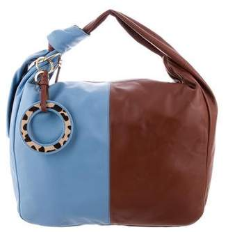 Diane von Furstenberg Circle Charm Bi-Color Hobo