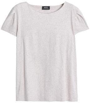 A.P.C. Mélange Cotton And Linen-Blend Jersey T-Shirt