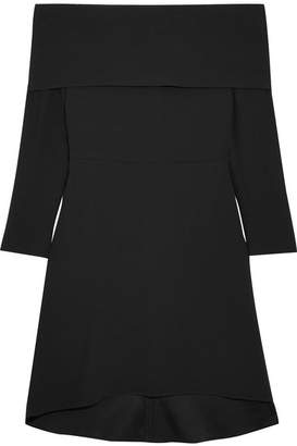 Theory Off-the-shoulder Crepe Dress - Black