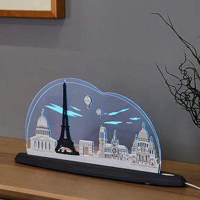 Faszinierende LED-Motivleuchte Ich liebe Paris