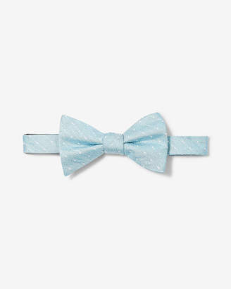Express Dot Print Silk Bow Tie