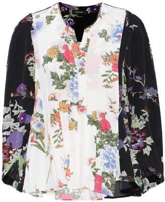 Isabel Marant Ivia floral-printed silk blouse