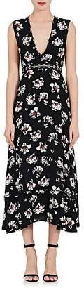 Proenza Schouler Women's Cutout-Waist Floral Sleeveless Dress