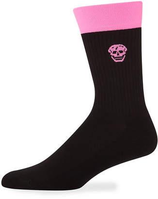 Alexander McQueen Men's Fluro Stripe Socks